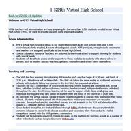 Virtual School Information Page 1
