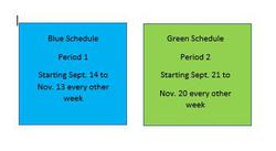 Daily Timetable -  Blue/Green Schedule